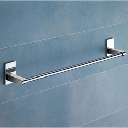 Gedy - 24 Inch Polished Chrome Towel Bar - Modern, simple 24 inch polished chrome towel bar made of chromed brass. 24 inch towel holder made of chromed brass. From the Gedy Maine collection.