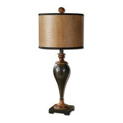 Uttermost - Oil Rubbed Bronze Javini Table Lamp With Cylinder Shade - Oil Rubbed Bronze Javini Table Lamp With Cylinder Shade
