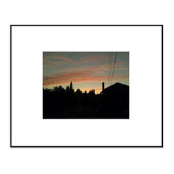 """Hip Pictures - """"Into the Night (Warm)"""" - 11x14 - Fineline Black Aluminum Frame 16x20 - Coming up the east side of Capitol Hill in Seattle, I just had to pull over and snap the sunset sky at the end of a long, beautiful summer day."""