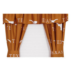 College Covers - NCAA Texas Longhorns Orange Collegiate Window Curtains - Features: