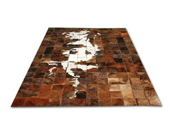 "Gambrell Renard - Gambrell Renard Artisan Collection ""Continental"" Hand Stitched Cowhide Rug - Gambrell Renard Artisan Collection ""Continental"" Hand Stitched Cowhide Rug"