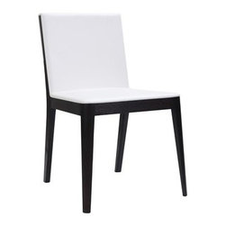 Moe's Home Collection - Moe's Home Collection Rossini White Dining Side Chair (Sold in Multiples of 2) - Moe's Home Collection loves beautiful furniture accessories and decor and so do the people who shop their brand. Because of that they make a point of putting their customer first. As a family-owned business for over 20 years Moe's Home Collection understands how important your home is. It's a place that reflects who you are but it also needs to be practical and beautiful. Moe's Home Collection believes in feeling good about the home environment. When you purchase a piece from Moe's Home Collection you'll sense the care and attention they've put into their selections. You'll find unique items that they've designed to suit the most discerning tastes. Features include Solid beech wood PVC Seat Height: 18''.