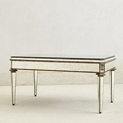 "Anthropologie - Mirrored Coffee Table - Wood, glass20""H, 40""W, 24""DImported"