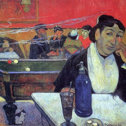 "Paul Gauguin Night Cafe at Arles - 16"" x 20"" Premium Archival Print - 16"" x 20"" Paul Gauguin Night Cafe at Arles premium archival print reproduced to meet museum quality standards. Our museum quality archival prints are produced using high-precision print technology for a more accurate reproduction printed on high quality, heavyweight matte presentation paper with fade-resistant, archival inks. Our progressive business model allows us to offer works of art to you at the best wholesale pricing, significantly less than art gallery prices, affordable to all. This line of artwork is produced with extra white border space (if you choose to have it framed, for your framer to work with to frame properly or utilize a larger mat and/or frame).  We present a comprehensive collection of exceptional art reproductions byPaul Gauguin."
