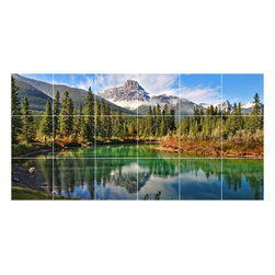 Picture-Tiles, LLC - Lake River Photo Kitchen Bathroom Tile Mural  18 x 36 - * Lake River Photo Kitchen Bathroom Tile Mural 1783