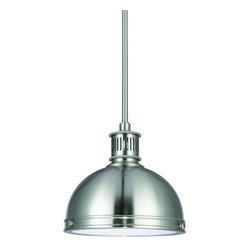 Sea Gull Lighting - Sea Gull Lighting 65085BLE Pratt Street Metal 1 Light Energy Star Fluorescent In - Features: