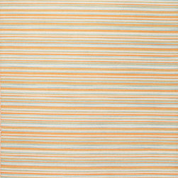 Jaipur Rugs - Flat-Weave Stripe Pattern Wool Orange/Blue Area Rug ( 5X8 ) - Bold color is the name of the game with Pura Vida. This beautiful collection of durable, reversible flat-woven dhurries combines the classic simplicity of linear patterns with a decidedly modern palette for a look that's at once casual and sophisticated.