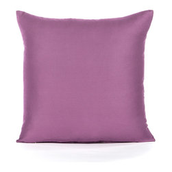 "Blooming Home Decor - Solid Sateen Purple Accent / Throw Pillow Cover - (Available in 16""x16"", 20""x20"", 24""x24"", 20""x26"" , 20""x36"")"