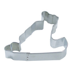 RM - Sled W/Child 3.75 In. B0958 - Sled with child metal cookie cutter, made of sturdy tin, Size 3.75 in., Depth 7/8 in., Color silver.