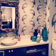 Eclectic Powder Room by Julie Babin Design