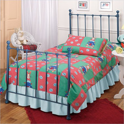 Hillsdale - Hillsdale Molly Twin Metal Panel Bed in Blue Finish - Hillsdale - Beds - 1088BTWR - Classic country styling and cottage charm make the Molly Bed a practical and stylish choice for either a boy's or girl's room. Featuring decorative castings and a green finish this bed offers warm and inviting sensibility to any room.