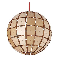 ParrotUncle - Natural Wood Ball Pendant Lighting for Living Room, Large - Unique and modern lighting will update your space in no time. This would be amazing in a boy's room or above an art table in a playroom. I love the texture and whimsical look of this pendant. Available in three sizes.