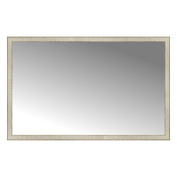 """Posters 2 Prints, LLC - 63"""" x 40"""" Libretto Antique Silver Custom Framed Mirror - 63"""" x 40"""" Custom Framed Mirror made by Posters 2 Prints. Standard glass with unrivaled selection of crafted mirror frames.  Protected with category II safety backing to keep glass fragments together should the mirror be accidentally broken.  Safe arrival guaranteed.  Made in the United States of America"""