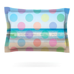 "Kess InHouse - Bree Madden ""Beach Polka"" Pillow Sham (Cotton, 30"" x 20"") - Pairing your already chic duvet cover with playful pillow shams is the perfect way to tie your bedroom together. There are endless possibilities to feed your artistic palette with these imaginative pillow shams. It will looks so elegant you won't want ruin the masterpiece you have created when you go to bed. Not only are these pillow shams nice to look at they are also made from a high quality cotton blend. They are so soft that they will elevate your sleep up to level that is beyond Cloud 9. We always print our goods with the highest quality printing process in order to maintain the integrity of the art that you are adeptly displaying. This means that you won't have to worry about your art fading or your sham loosing it's freshness."