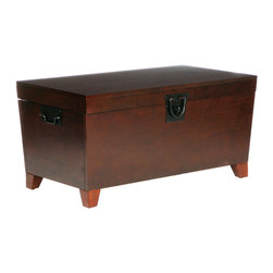 Holly & Martin - Dorset Trunk Cocktail Table, Espresso - Furniture purists will drool over this coffee table and storage trunk in one made of real wood. Its functionality and character will solidify its place as a well-loved member of your family.