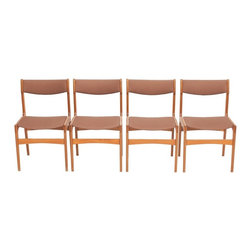 Unknown - Consigned Mid Century Danish Modern Erik Buck Teak Dining Chairs - • Mid Century Danish Modern