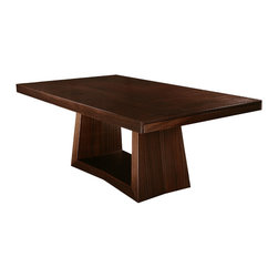 Cliff Young Ltd. - Cubisto Dining Table - Making a statement in stately dining rooms and casual interiors alike, this extension dining table of Art-Deco inspiration is classy and sophisticated.  Fully customizable.