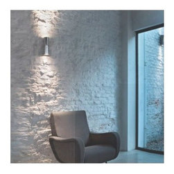 Flos - Clessidra Wall Light | Flos - Design by Antonio Citterio, 2011.By FLOS.The Clessidra Wall Light is composed of an aluminum body with PMMA diffusers for diffused direct and indirect lighting. Sleek hourglass design casts light upward and downward, making the fixture both a statement piece and a functional source of light. Up and down accent light illuminates interior spaces and is especially fitting for hallways. Wide range (100-240V) power pack integrated in the body. Available with a choice of finish and beam spread (20° or 40°). Product Features:  Energy efficient; utilizes two multichip LED lights Non-dimmable IP55 Rated, ADA Compliant, UL Listed