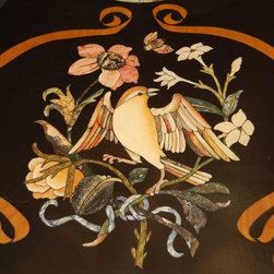 Hand Built & Painted Pietra Dure Table (Faux) - Hand Built & Painted (Faux) Pietre Dure Table 7' wide, Seats 12