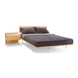 Metal VLeg Bed Platform Bed Modernica Case Study Bed - Metal VLeg Bed Platform Bed from Modernica Case Study Bedroom Furniture at Accurato Furniture Store www.Accurato.com