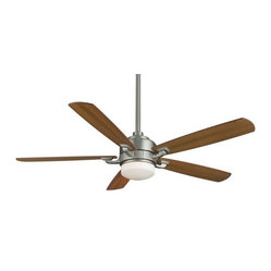 Fanimation - Benito Fan - The ceiling fan has never been so sleek — an ideal addition to your favorite setting. Its clean lines and simple bowl shade are modern, yet the walnut-finished wood blades and your choice of oil-rubbed bronze or satin nickel finish lend a sense of warmth.