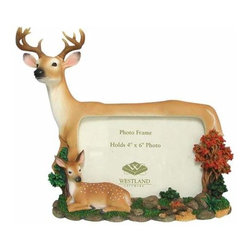 WL - 4 x 6 Inch Buck and Fawn Deer Woodland Collectible Picture Frame - This gorgeous 4 x 6 Inch Buck and Fawn Deer Woodland Collectible Picture Frame has the finest details and highest quality you will find anywhere! 4 x 6 Inch Buck and Fawn Deer Woodland Collectible Picture Frame is truly remarkable.