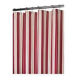 Watershed Picardi Stripe Shower Curtain - Make your bathroom complete with the Park B Smith Picardi Stripe Shower Curtain. Its smart, vertical lines are paired with a variety of expressive colors to bring rich excitement to your home décor. This curtain is water-resistant, therefore no liner is needed. It's also, mold- and allergen-resistant plus machine-washable.