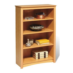 Prepac - Entryway & Home 48 in. Bookcase - Imagine this charming bookcase from the Sonoma Collection in your home.  Its four shelves will easily hold and display your important items while appearing attractive in its radiant Maple color with a high quality construction that is strong and sturdy. * Four shelves. Warranty: Five years. Made from CARB-compliant, MDF, laminated composite wood. Made in North America . Assembly required. Internal: 29 in. W x 11.5 in. D x 39.75 in. H . Overall: 31.5 in. W x 13 in. D x 48 in. HWith four shelves' worth of storage for books, plates, decorative accessories and more, this stylish piece is ideal for your den, office or living room. Get even more storage by arranging it with others for a library wall effect. its one storage piece that's as fashionable as it is versatile.