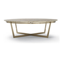 Flexform - Flexform Vito Coffee Table - The Flexform Vito Coffee table frame available in satin nickel, chrome, or burnished metal. Table top on this modern coffee table is available in black marquinia marble or calacatta gold marble. Rectangular and square tables have a lower shelf in ashwood which is available in the following finish colors: natural, teak, ebony, wenge, walnut, cherry. The Flexform Vito is Available in several shapes and sizes. This Flexform coffee table is manufactured by Flexform. Price includes shipping to the USA. Designed in 2006.