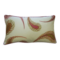 Jiti - Peacock Cream Pillow - Jazz up your home decor with our Peacock Cream Pillow!  Made from 100% Cotton. Invisible Zipper. DRY CLEAN ONLY. Insert is made of 95% feathers and 5% down.