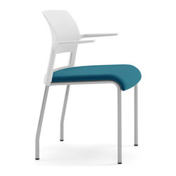 Steelcase - Steelcase Move Multiuse Chair, Platinum Frame - Conformity isn't cool — unless its the innovative support system built into this chair's cushion. It curves with your every move and conforms to your body to make you more comfortable and present, whether you're working or just hanging out.