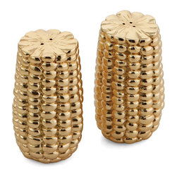 Michael Aram 'Corn' Salt & Pepper Shakers - I love these salt and pepper shakers. They're so festive and glam for the Thanksgiving table.