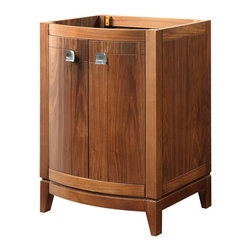 Decolav - Decolav 5240-MWN Gavin Walnut Vanity - DECOLAV's Gavin Vanity has dynamic edges and strong lines setting this vanity collection apart. Soft closing hinges are used for a smooth secure close.