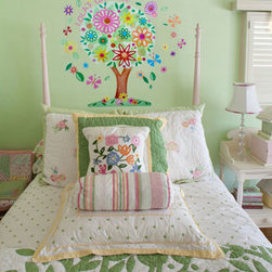Oopsy Daisy - Flower Tree Peel & Place Wall Stickers - Flower Tree Peel & Place Wall Stickers