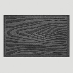 Charcoal Wood Grain WaterGuard Doormat - For the faux bois lover, here's some wood grain for your doorstep.