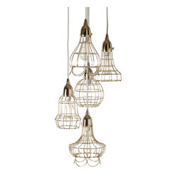 Lazy Susan - Gold Wire Five Pendant Lamp - Gold Wire Five Pendant Lamp