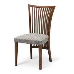 Bryght - Saphira Dining Chair - A striking slat back design, the Saphira dining chair elegantly flares from the top creating interesting lines of proportion that lend this dining chair a lovely contemporary feel.