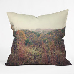 Catherine McDonald Autumn in Appalachia Throw Pillow - Bring autumn indoors (where it's warm and toasty) with a beautiful print like this one. From a distance it's almost abstract, which I love.
