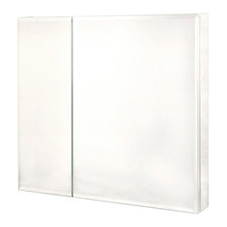 Pegasus - Pegasus Bi-View Beveled Mirror 30W x 30H in. Medicine Cabinet SP4586 - 511283 - Shop for Bathroom Cabinets from Hayneedle.com! The Pegasus Bi-View Beveled Mirror 30W x 30H in. Medicine Cabinet SP4586 is like a dream-home for your toothbrush. You'll have room for all of your bathroom necessities inside the rust-proof aluminum cabinet with six adjustable glass shelves and a mirrored interior. Access isn't an issue when both doors open wide on sturdy hinges that can extend to 110 . The finished look of the beveled mirror face will complement any decor. This cabinet can be hung directly on the wall using the included hardware or flush-mounted for a more discreet appearance. About PegasusThink Pegasus when it comes to kitchen or bath needs. Pegasus is widely known for their signature faucets unique bath accessories and furniture vanities mirrors pedestal sinks toilets and kitchen sinks. Pegasus offers special collections featuring products that coordinate with an elegant yet sophisticated style. With designs spanning from tasteful and traditional to streamlined and contemporary Pegasus provides high-quality products and fixtures for a reasonable cost and promotes the philosophy of luxury without the extravagance.
