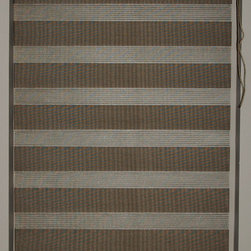 "CustomWindowDecor - 84"" L, Basic Dual Shades, Brown, 46-7/8"" W - Dual shade is new style of window treatment that is combined good aspect of blinds and roller shades"