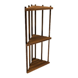 "TEAKWORKS4U - Teakworks4u Teak Corner Shower Shelf, 16""L x 12""D x 36""H, Burmese Teak - Teakworks4u Teak Corner Shower Shelf stands 36 inches high and is made of marine grade stainless steel hardware. It can be used in the shower, on the patio or anywhere else where corner shelf is needed. It is ready to assemble."
