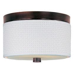 ET2 - ET2 E95100-100 Elements 2-Bulb Flush Mount Indoor Ceiling Fixture - Fabric Shade - Product Features: