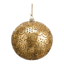 Silk Plants Direct - Silk Plants Direct Antique Swirl Glass Ball Ornament (Pack of 2) - Gold - Pack of 2. Silk Plants Direct specializes in manufacturing, design and supply of the most life-like, premium quality artificial plants, trees, flowers, arrangements, topiaries and containers for home, office and commercial use. Our Antique Swirl Glass Ball Ornament includes the following: