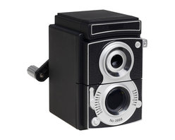 Camera Pencil Sharpener - Why not have your desk accessories add some fun style to your home office? This pencil sharpener adds a bit of vintage modern to your desk?