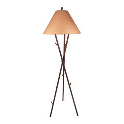 Steel Partners Inc - Floor Lamp - GIFFORD PINCHOT - Every piece we create is unique — handcrafted at our factory in Chehalis, Washington, USA. Due to this, lead times are 2 to 4 weeks.