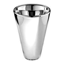 Nick Munro - Silver Mercury Glass Vase - Add some shine to your tablescape with this stunning contemporary mercury glass vase, designed by U.K. artist Nick Munro.
