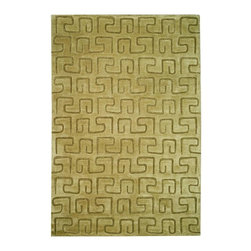 Safavieh - Hand-Tufted Taupe Greek Key Rug (5 ft. x 8 ft.) - Size: 5 ft. x 8 ft. Hand Tufted. Wool and Viscose. Made in India. The Soho Collection is Safavieh's response to market demand for clean, transitional design in rugs that work equally well in traditional and contemporary homes. The collection's unique purity and clarity of the color is achieved by selecting only the purest premium New Zealand wool as a canvas for Safavieh's exciting new color palette. Many of the designs in the Soho collection are accented with viscose for silky softness to outline patterns, and further highlight the softness of the wool. This innovative collection is hand-tufted in India.