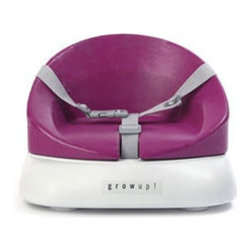 Mutsy Grow Up Booster Seat - To allow your baby to sit comfortably and securely at the table, this flexible booster seat adds height and style. Bright and modern, this seat suits children up to four years old. A harness insures safety without overpowering the look.