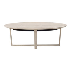 Skovby - Coffee Table - Add a little drama to your living space with this captivating coffee table. With its graceful oval shape, solid wood construction and little black lower shelf for discreet storage, it has plenty of style without skimping on substance.