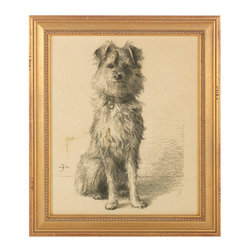 J. Pocker - Brewster Print - Display your love of dogs — and of fine art — with this impressive print. Chosen for your traditional home by renowned interior designer and collector Bunny Williams, it adds the perfect touch of charm  to your favorite setting.